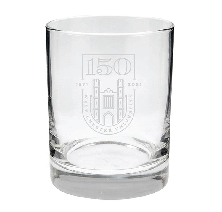 WCU Rocks Glass