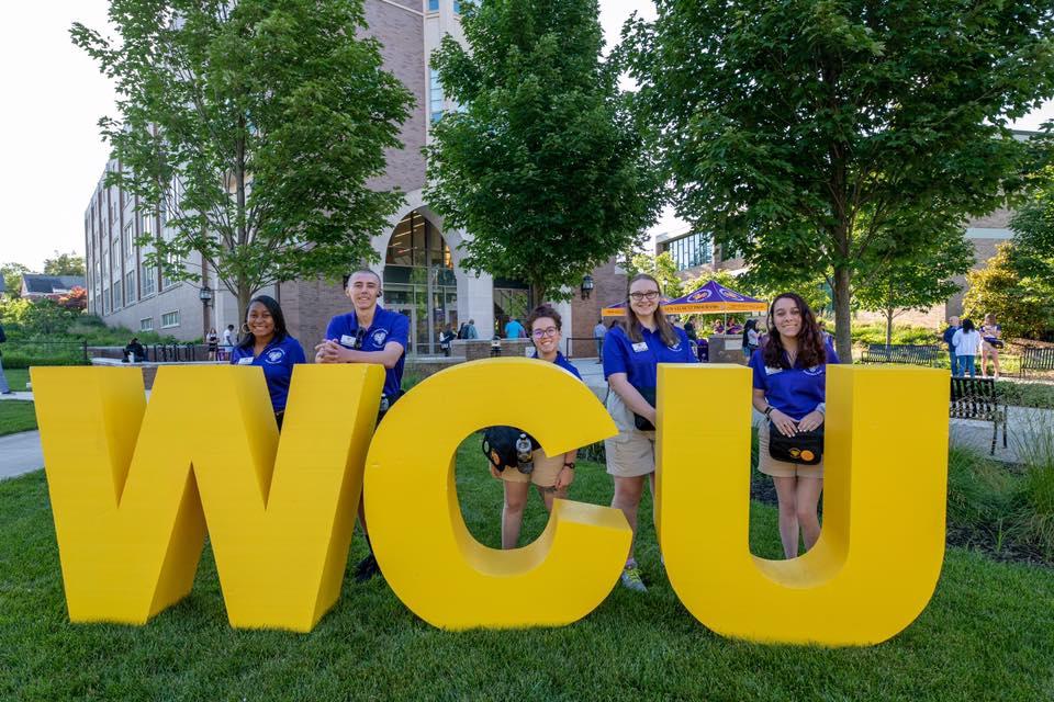 WCU Formation on Quad