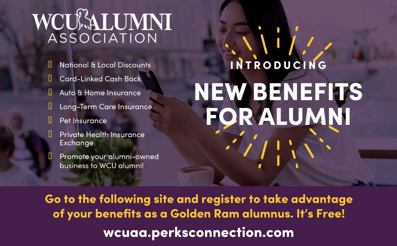 New Benefits for WCU Alumni